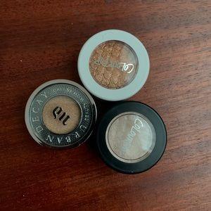 Single eyeshadows (colourpop & UD)